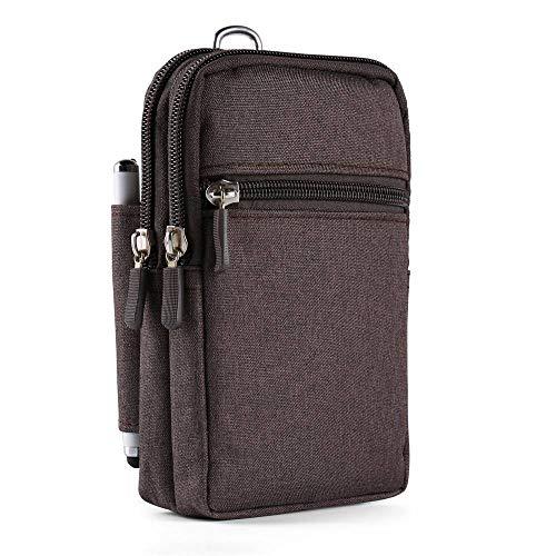 Cellphone Waist Pack Belt Clip Loop Hoslter Bag for Google Pixel 3XL/Xiaomi Mi A2/Redmi Note 5/Pro/Asus ROG Phone/ZenFone 5 Lite/5/5z/Max Pro (M1)/BLU Pure View/Vivo One Plus/XL6 -