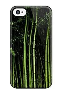 Best Tpu Fashionable Design Bamboo Rugged Case Cover For Iphone 4/4s New 2384496K48322704