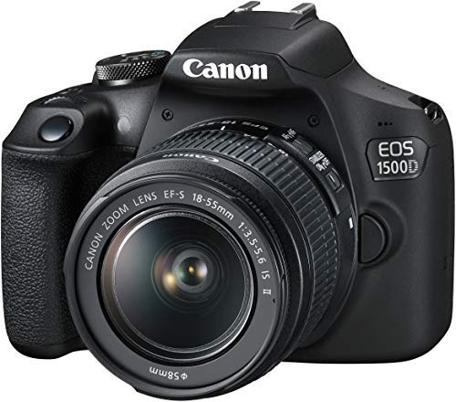 Canon EOS 1500D 24.1 Digital SLR Camera (Black) with EF S18-55 is II Lens Discounts Junction