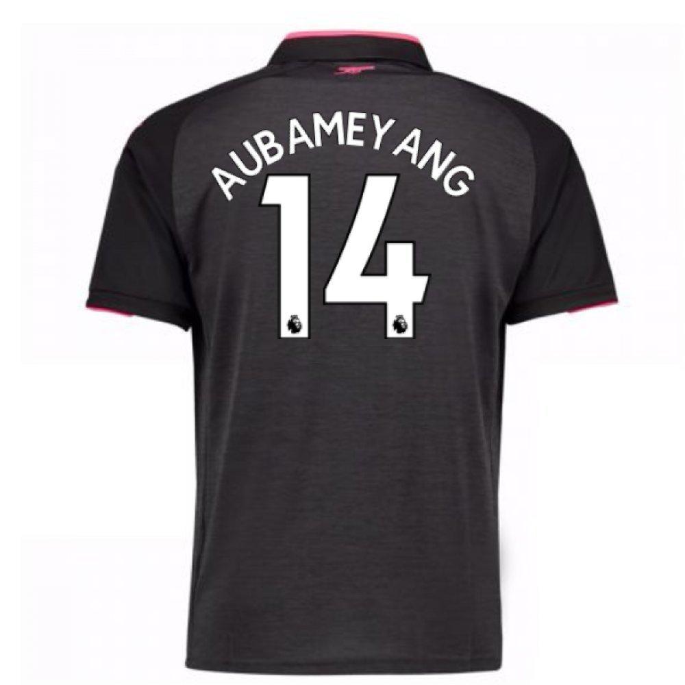 2017-18 Arsenal Third Football Soccer T-Shirt Trikot (Pierre Emerick Aubameyang 14)