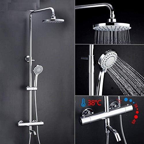 ZT-TTHG 調節可能なホット冷水大きな丸い頭が高圧フラッシングシャワーセットの恒温槽シャワーブラスバスタブ蛇口リフトシャワー