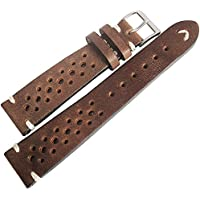 Fluco Hunter Racing 18mm Brown Leather Watch Strap