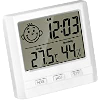 Vosarea Digital Thermometer Hygrometer Indoor Thermometer Room Temperature and Humidity Monitor for Home Office (Without Battery)