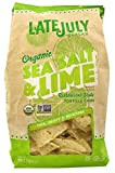 Late July Snacks, Organic Tortilla Chips; Sea Salt & Lime, Pack of 9, Size - 11 OZ, Quantity - 1 Case