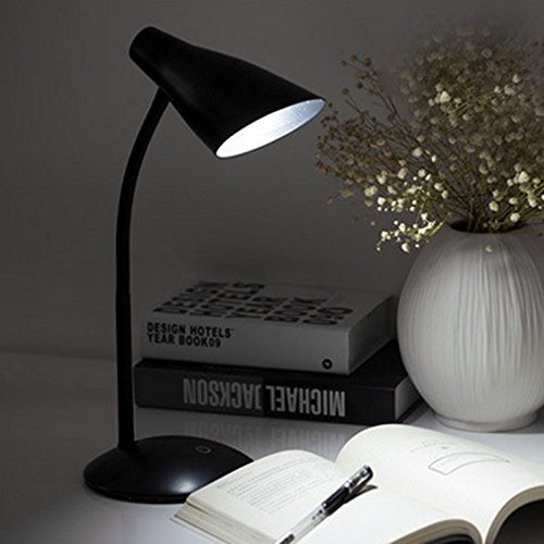 Zehui LED Table Lamp Elegant USB Charged with Clip Eye-Protection Study Reading Light Festival Gift 5W Black Shell by Zehui