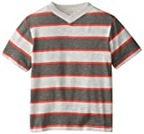 C-Life Group Little Boys' V-Neck Roller Printed Stripe-Slub Tee Shirt Withered