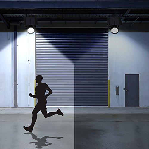 MoRgen Solar Motion Sensor Lights Outdoor 5W Wireless Aluminum LED Flood Security Light, 3 Modes,360 Degree 10 LED Solar Spotlight-1400 Lumens for for Yard Porch Patio Garage Driveway-Black by MoRgen (Image #2)