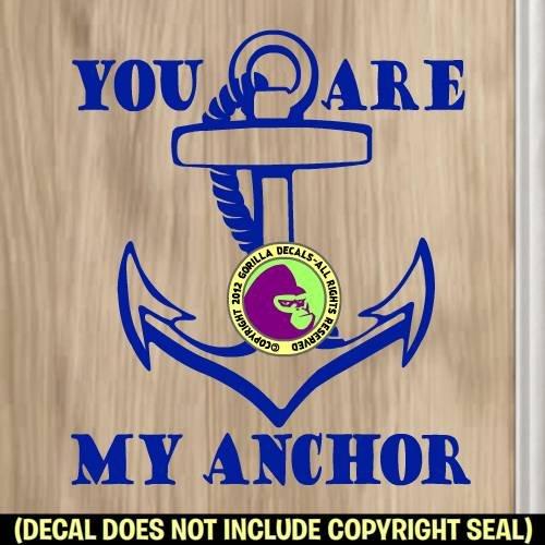 Ed Hardy Anchor (YOU ARE MY ANCHOR Vinyl Decal Sticker E)
