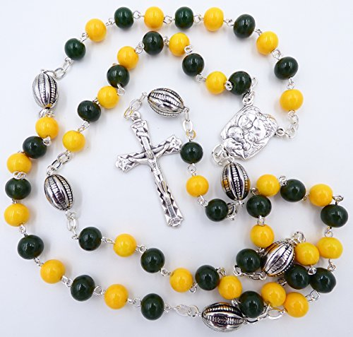 UNIVERSITY OF OREGON DUCKS NCAA CATHOLIC ROSARY BEADS