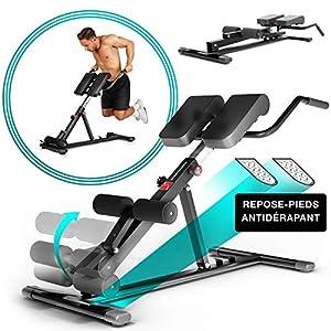 Sportstech Banc de Musculation BRT150 6en1 avec Barre à dips pour Domicile, Hauteur réglable, Ergonomique, système de…