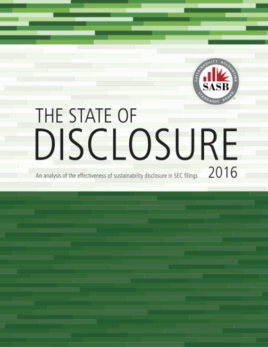 State of Disclosure - Annual Report - 2016 (Volume 1) by CreateSpace Independent Publishing Platform