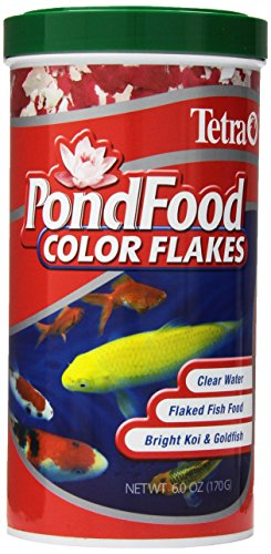 Tetra Pond Food, Flaked Color Fish Food, 6-Ounce, 1-Liter, (77021) ()