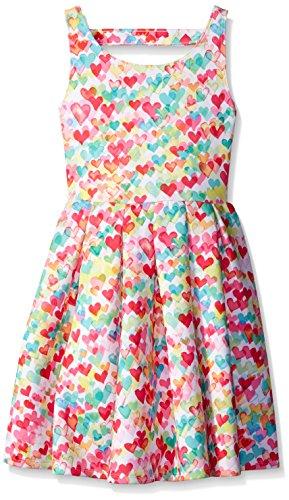 Kate Mack Big Girls Love is in The Air Scuba Dress, Multi, 7