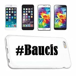 cubierta del teléfono inteligente iPhone 4 / 4S Hashtag ... #Baucis ... en Red Social Diseño caso duro de la cubierta protectora del teléfono Cubre Smart Cover para Apple iPhone … en blanco ... delgado y hermoso, ese es nuestro hardcase. El caso se fija con un clic en su teléfono inteligente
