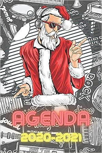 Agenda 2020 2021: Agenda Scolaire Journalier Musique/Père Noel
