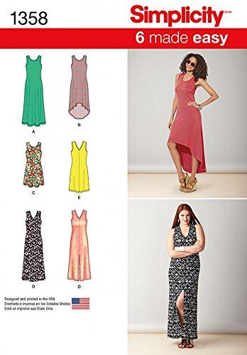 Simplicity Ladies Easy Sewing Pattern 1358 Summer Beach Dresses ...