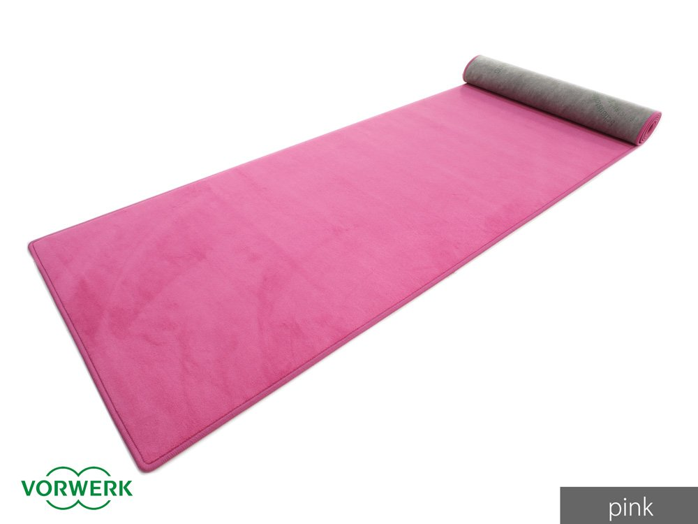 Bijou UNI Der Vorwerk Teppichl/äufer von HEVO/® in Pink 067x200 cm