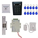 Dovewill ID Card Password Entry Security System with 10 RFID Keyfobs Password Keypad