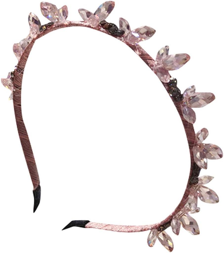 Dicomi - Accesorios para el pelo de pedrería para mujer, accesorios de plástico para el pelo con dientes, para mujer, niña, clip de pelo de cristal y perla, accesorios para el cabello