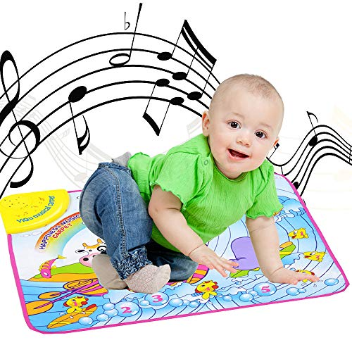 Music Play Floor Mat Toys, Musical Floor Touch Dancing Mat Educational Games Gym Toys for Baby Toddlers Girls Boys Kids 1-6 Years Old, 23 x 18 Inch (Multicolor/Ship from US) ()