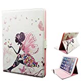 iPad Air 2 Case, Itrendz [Cute Smart Case] Fairy Girls PU Leather Flip Case [Magnetic Closure] Stand Smart Cover [Auto Sleep Wake] For Apple iPad Air 2 [FREE SCREEN PROTECTOR & STYLUS]