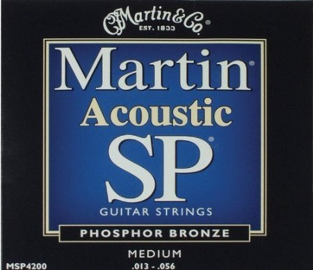 Bulk 12 Sets, Martin SP, Acoustic Guitar Strings, Medium Gauge, Phosphor Bronze, MSP4200