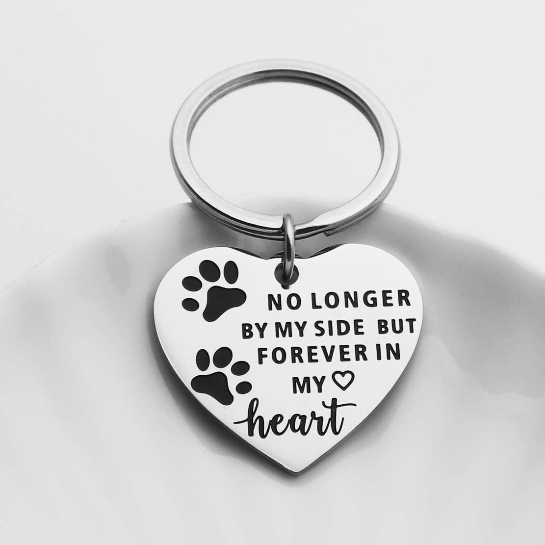 JINGMARUO Dog Cat Pet Memorial Keychain Pet Remembrance Gift Sympathy Gift for Loss of Pet