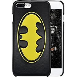 "Batman iPhone 7 Plus 5.5"" Case, Onelee Batman Black PU Leather Case for iPhone 7 Plus 5.5"" [Scratch proof] [Drop Protection]"