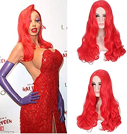 Jessica Rabbit Night Club Drag Queen largo ondulado resistente al ...