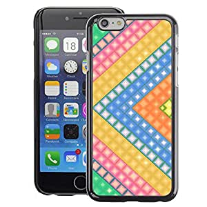 A-type Arte & diseño plástico duro Fundas Cover Cubre Hard Case Cover para Apple (4.7 inches!!!) iPhone 6 / 6S (Gaming Arrow Yellow Polygon Pattern)