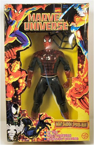 Amazon.com: Marvel Universe 10 Inch Night Shadow Spider-Man Action ...