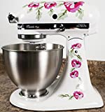 kitchenaid mixer flower - Pink Poppy Flowers Watercolor Kitchenaid Mixer Mixing Machine Decal Art Wrap