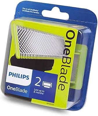 Philips QP220/50 - Cuchilla de recambio para Philips OneBlade, 2 ...