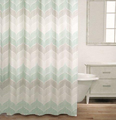 Curtains Ideas chevron stripe shower curtain : Amazon.com: Caro Home 100% Cotton Shower Curtain Wide Stripes ...