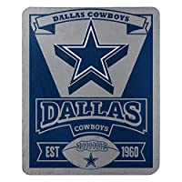 """The Northwest Company Officially Licensed NFL Dallas Cowboys Marque Printed Fleece Throw Blanket, 50"""" x 60"""", Multi Color"""