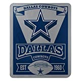 The Northwest Company 1NFL/03102/0009/AMZ NFL Dallas Cowboys Marque Printed Fleece Throw, 50