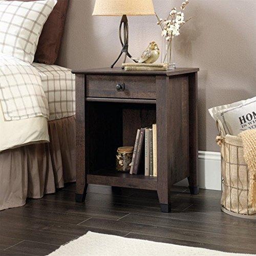 Carson Forge Nightstand with Drawer & Storage Shelf -Coffee Oak - Sauder