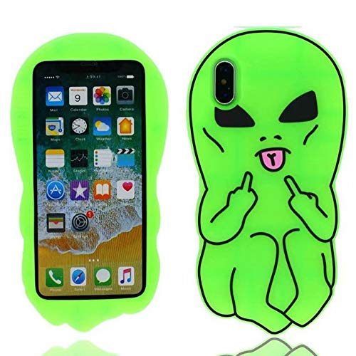 sports shoes ec1b1 1668c Cute 3D Cartoon iphone X Case,Animals Food Fashion Design Lovely Cartoon  Characters Protective Skin Soft Rubber Silicone Cover for Apple iphone X