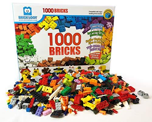 1 000 벽돌-1000 장난감 빌딩 블록(플러스 70 무료-총 1070 개 )-혼합 색상-호환-훌륭한 창조적 인 상자