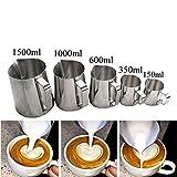 IronFizz897 Coffee Pots Stainless Steel Milk Frothing Jug Espresso Coffee Pitcher Barista Craft Coffee Latte