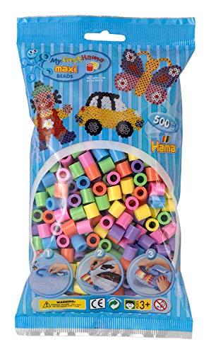 - Hama Maxi Beads 500 Pastel Mix by