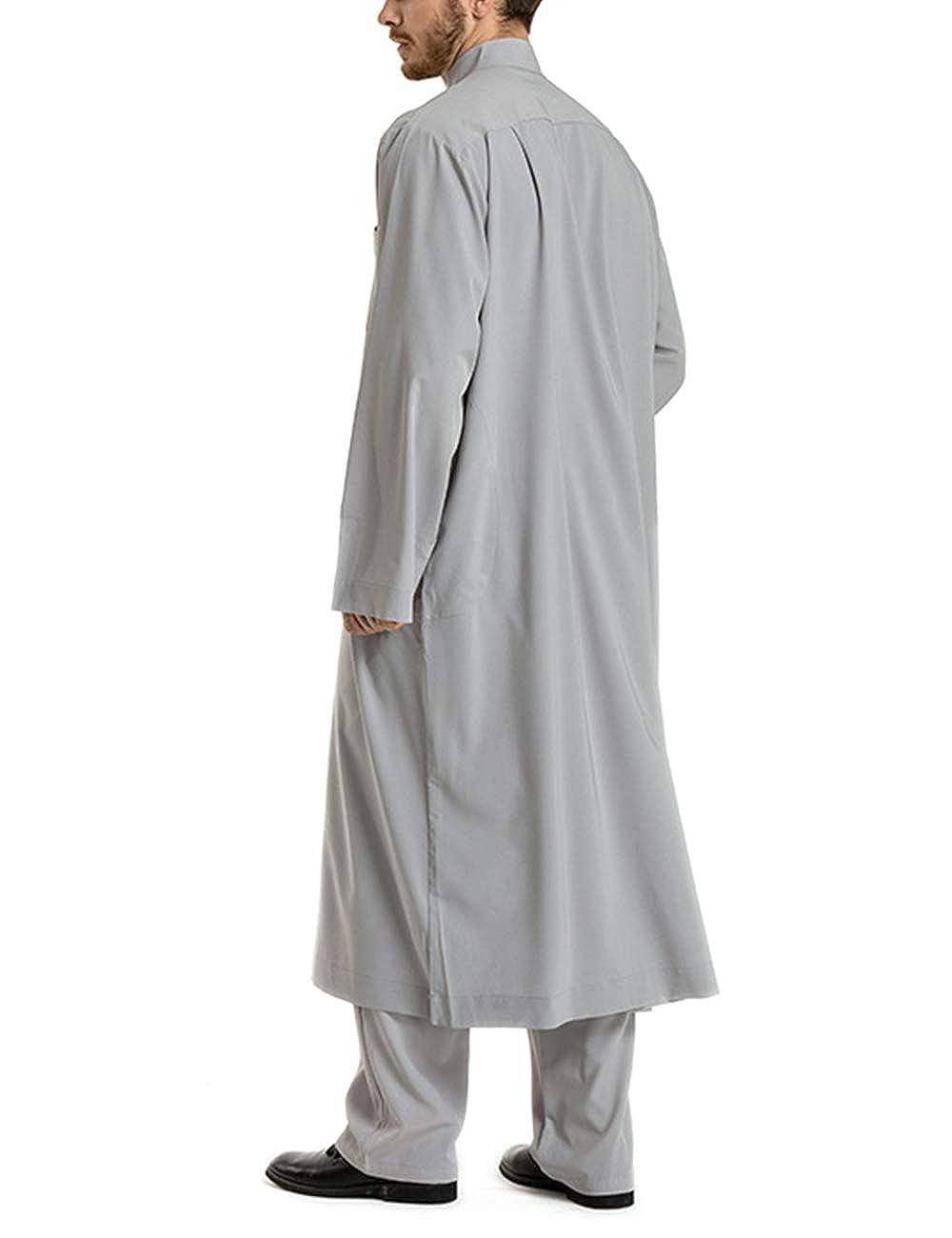 Amazon.com: besbomig - Albornoz para hombre Thobe Arab ...