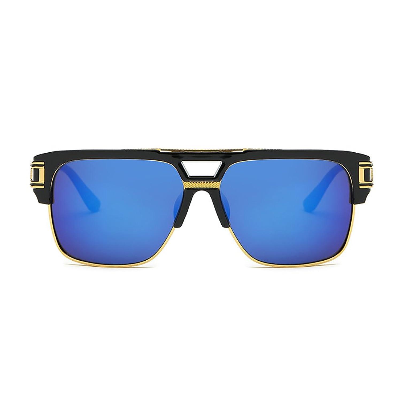Retro Oversized Sonnenbrille Metall Rahmen großen brille Square herren damen Eyewear hälfte frame piloten Gold Transparente brille 85ghPUvOnP