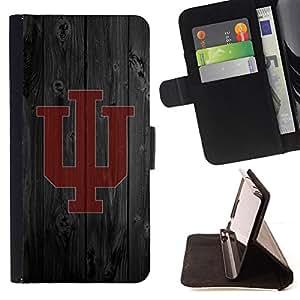 BullDog Case - FOR/Sony Xperia Z2 D6502 / - / W Football Team /- Monedero de cuero de la PU Llevar cubierta de la caja con el ID Credit Card Slots Flip funda de cuer