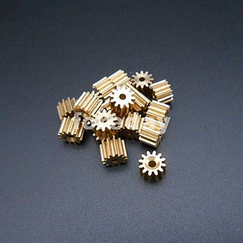 Ochoos 10PCS New 12 Teeth Brass Gear 0.5 Modulus T=12 Aperture 2mm DIY Model Accessories 12T 1.95MM 10PCS/LOTFD347X10