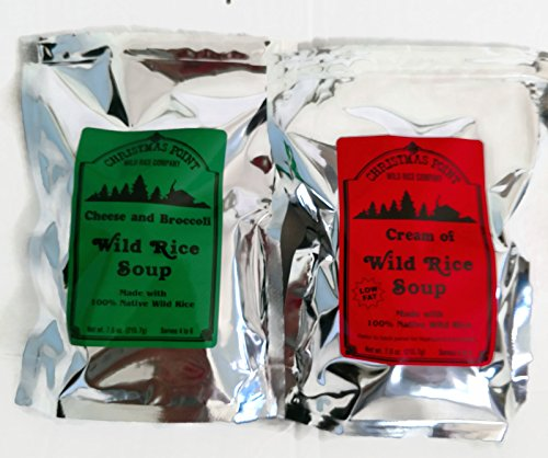 Wild Rice Soup Mix - Minnesota Bundle of 2 - 1 Pkg. Creamy Wild Rice Soup Mix & 1 Pkg. of Cheese & Broccoli Wild Rice Soup (Minnesota Wild Rice Soup)