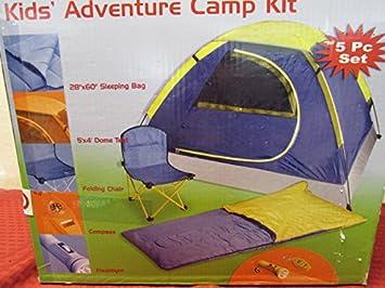 Kidsu0027 Adventure C& Kit 5-piece Set & Amazon.com: Kidsu0027 Adventure Camp Kit 5-piece Set: Toys u0026 Games