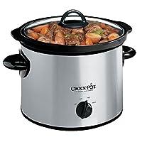 Olla de cocción lenta manual Crock-Pot SCR300-SS de 3 cuartos, plateada