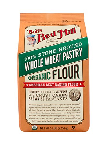Bob's Red Mill, Organic Pastry Flour, Whole Wheat, 5 Pound ()