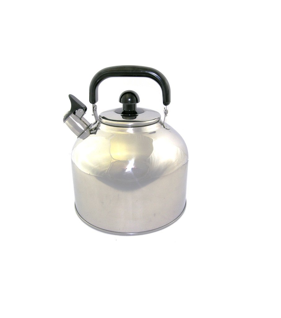 Stainless Steel Whistling Tea Kettle Large 7 Quart Teapot with Mesh Infuser 6.3 Liter Hot Water Pot Removable Lid Covered Handle Big Teapot For Making Fresh Brewed Iced Tea or Coffee Loud Whistle by Ballington